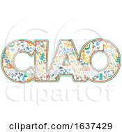The Word Ciao With Italian Icons