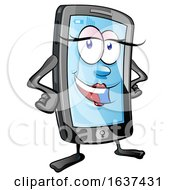 Cartoon Female Smart Phone Mascot by Domenico Condello