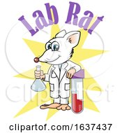 Lab Rat Holding A Beaker And Leaning On A Test Tube