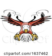 Half Eagle Half Drone Swooping Mascot