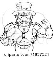Leprechaun Tough Cartoon St Patricks Day Character Or Baseball Sports Mascot