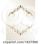 Poster, Art Print Of Ornate Golden Frame Design