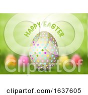 Poster, Art Print Of Easter Egg On Defocussed Background
