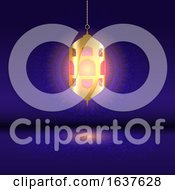 Ramadan Background With Hanging Lantern On Mandala Design