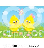 Poster, Art Print Of Spring Chicks