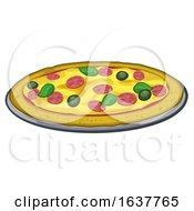 Cartoon Pizza Food Illustration