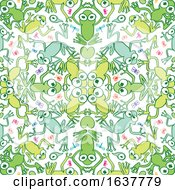 Cartoon Seamless Frog And Bug Pattern