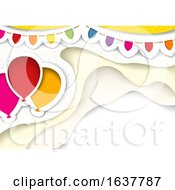Party Background With Balloons And A Banner