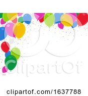 Border Of Colorful Party Balloons