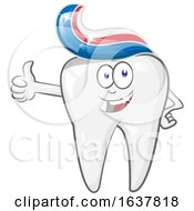 Happy Tooth Character With Paste Hair
