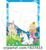 Princess Castle And Unicorn Border