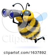 3d Bee Searches On A White Background by Steve Young