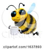3d Tea Break Bee On A White Background by Steve Young