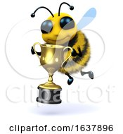 3d Bee Champion On A White Background by Steve Young