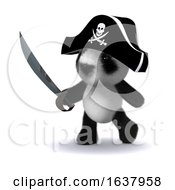 3d Pirate Panda On A White Background by Steve Young