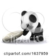 3d Baby Panda Explores On A White Background by Steve Young