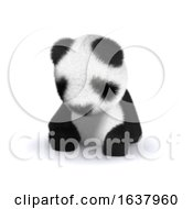 3d Sleepy Panda On A White Background by Steve Young