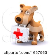 3d Puppy Medic On A White Background by Steve Young