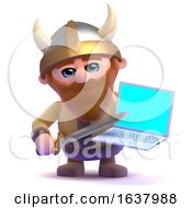 3d Viking Online On A White Background