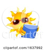 3d Sun Reader On A White Background