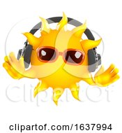 3d Sun Tunes On A White Background