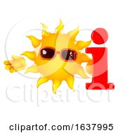 3d Sun Info On A White Background