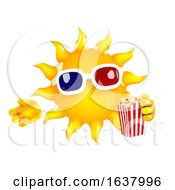 3d Sun At The Movies On A White Background