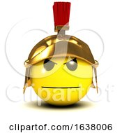 Poster, Art Print Of 3d Smiley Gladiator On A White Background