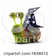 3d Wizard Snail On A White Background by Steve Young