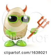 3d Evil Potato On A White Background by Steve Young