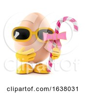 3d Egg Candy Treat On A White Background by Steve Young