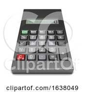 3d Calculator On A White Background