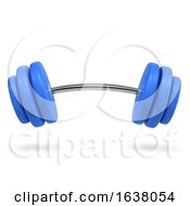 3d Weights Bending On A White Background