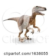 3d Velociraptor Dinosaur On A White Background by Steve Young