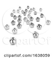 3d Ball Bearings On A White Background by Steve Young