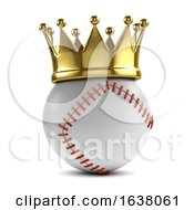 3d Baseball Champion On A White Background