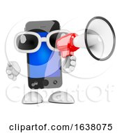 3d Smartphone Announcement On A White Background by Steve Young