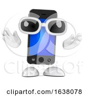 3d Smartphone Greets You On A White Background