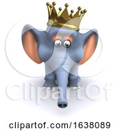 3d King Elephant On A White Background by Steve Young