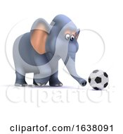 3d Football Elephant On A White Background by Steve Young