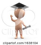 3d Graduate Human On A White Background by Steve Young
