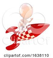 3d Rocket Man On A White Background by Steve Young