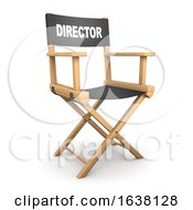 3d Directors Chair On A White Background by Steve Young