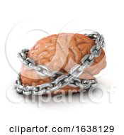 3d Brain Chained On A White Background by Steve Young