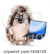 3d Techy Hedgehog On A White Background by Steve Young