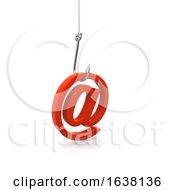 3d Phishing Hook With Email Address On A White Background