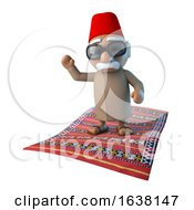 3d Moroccan On Flying Carpet On A White Background by Steve Young