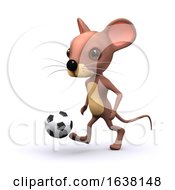 3d Football Mouse On A White Background by Steve Young