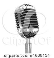3d Old Radio Microphone On A White Background