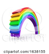 3d Plastic Rainbow On A White Background